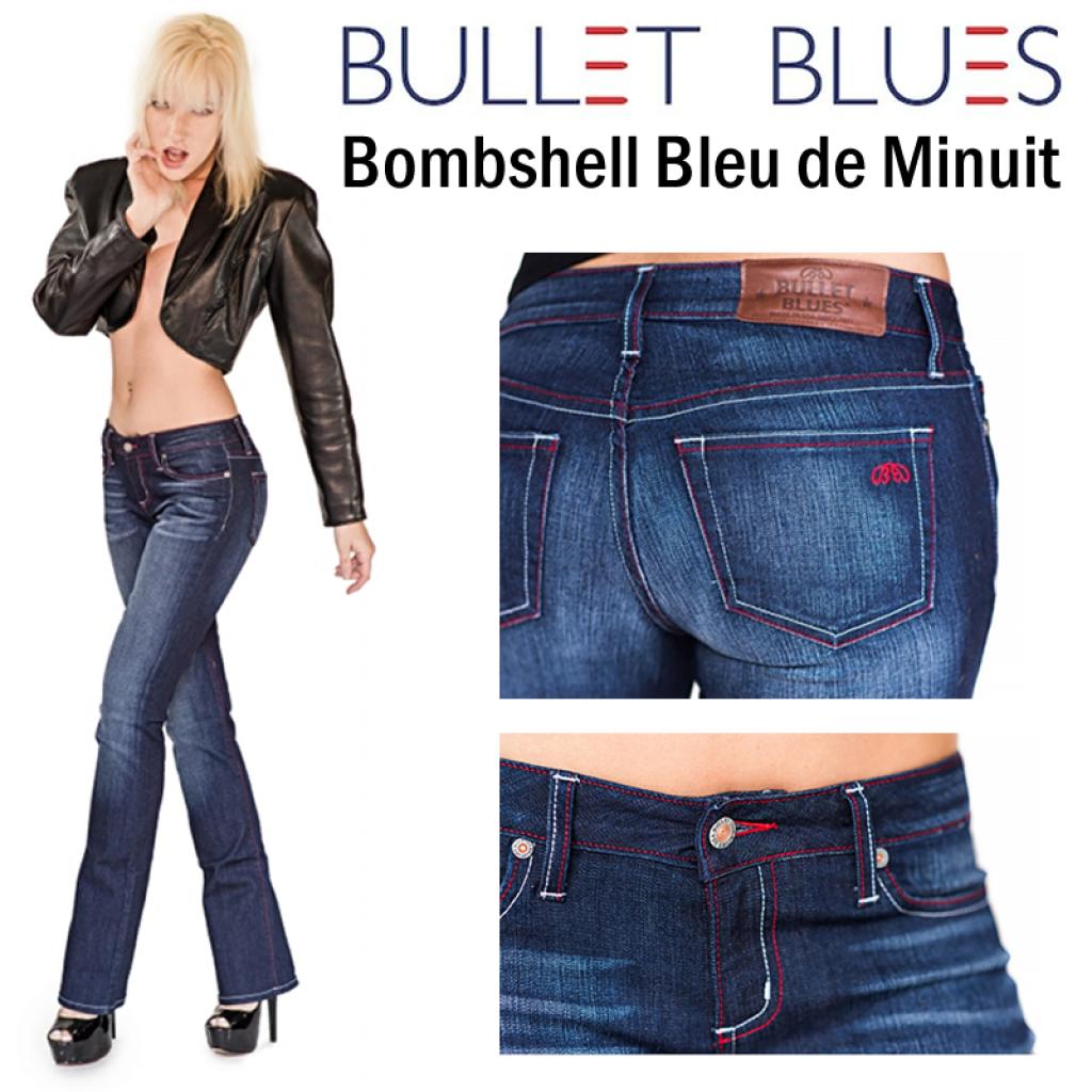 Bullet Blues Bombshell Bleu de Minuit Boot Cut Jeans