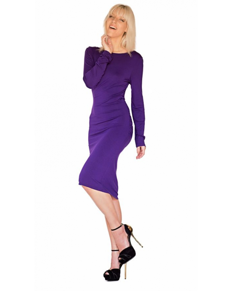 Bullet Blues Cecile Long Sleeve Dress in Purple