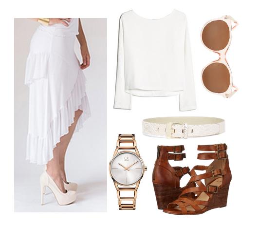 olivia palermo white skirt