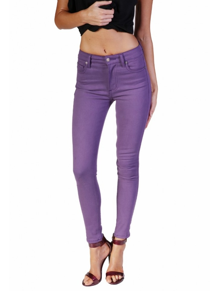 High-Waist Purple Skinny Jeans – The Bullet Blues Color Pop Edit