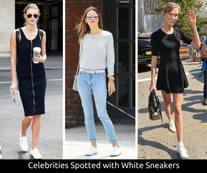The White Sneaker Trend with Bullet Blues Jeans and Dresses