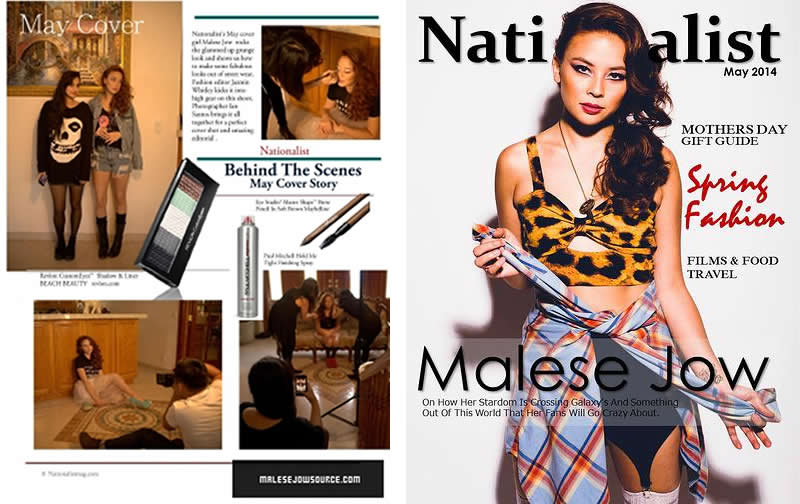 BEHIND THE SCENES VIDEO Nationalist Magazine May 2014: Jazmin Whitley Styles Malese Jow for Nationalist Magazine