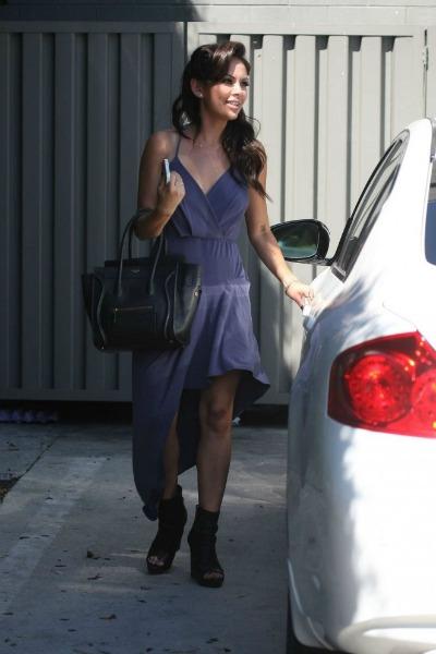 Janel-Parrish-purple-dress