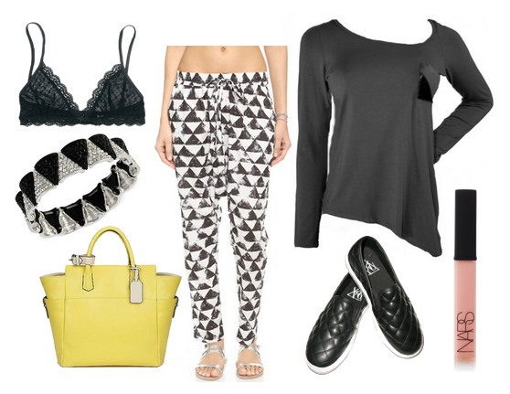 janel-parrish-black-top-outfit
