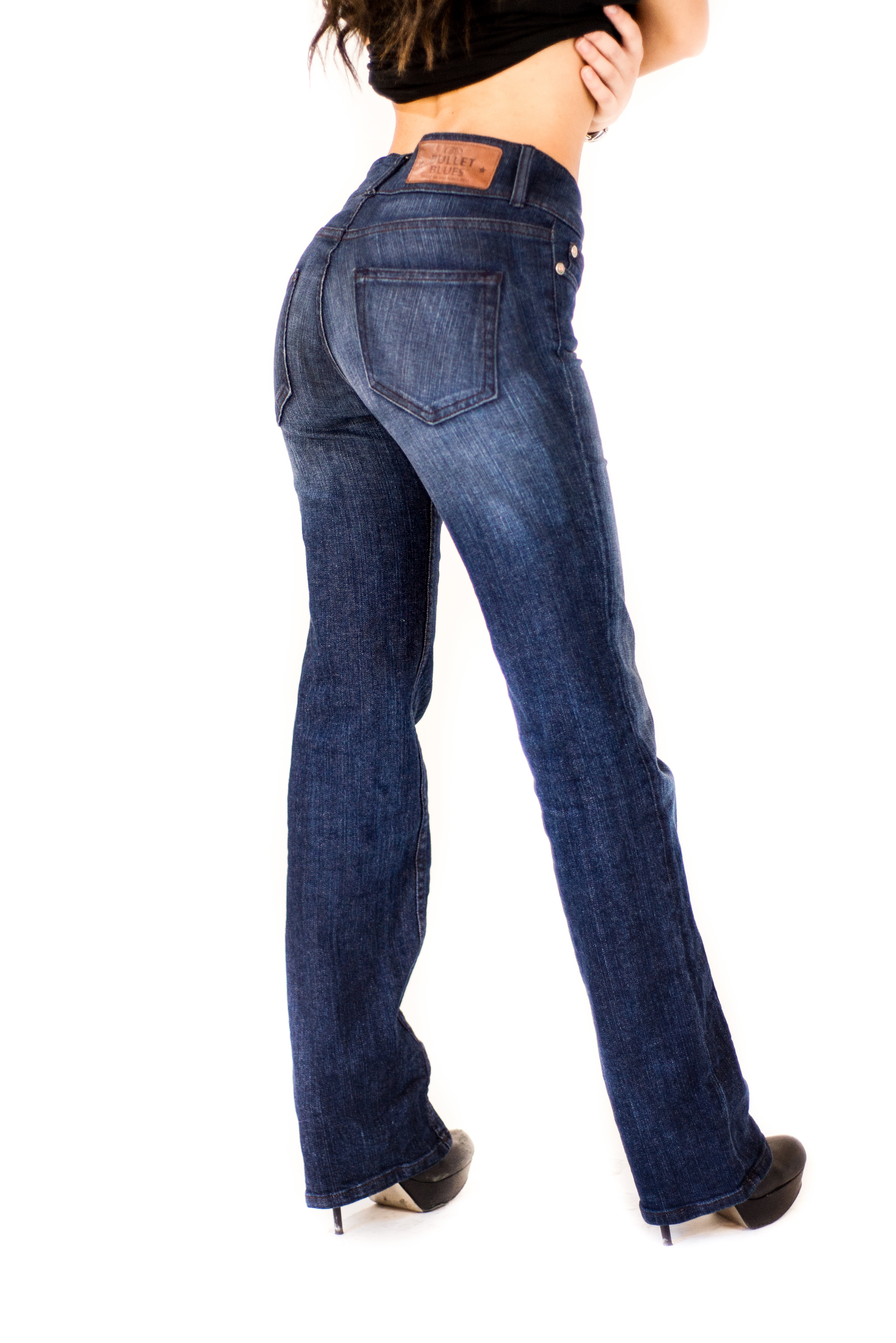 American Mother - Bullet Blues Elegant Boot Cut Jeans with High Waist - Made in USA