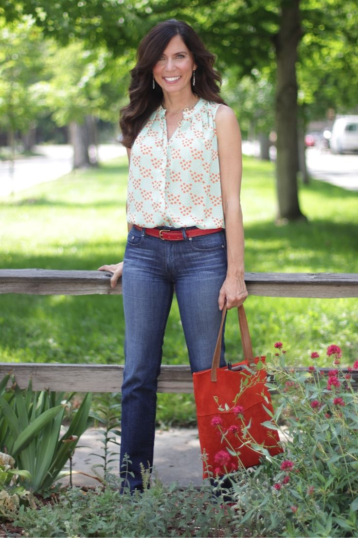 American Mother - Mrs. American Made wearing Bullet Blues Elegant jeans made in USA
