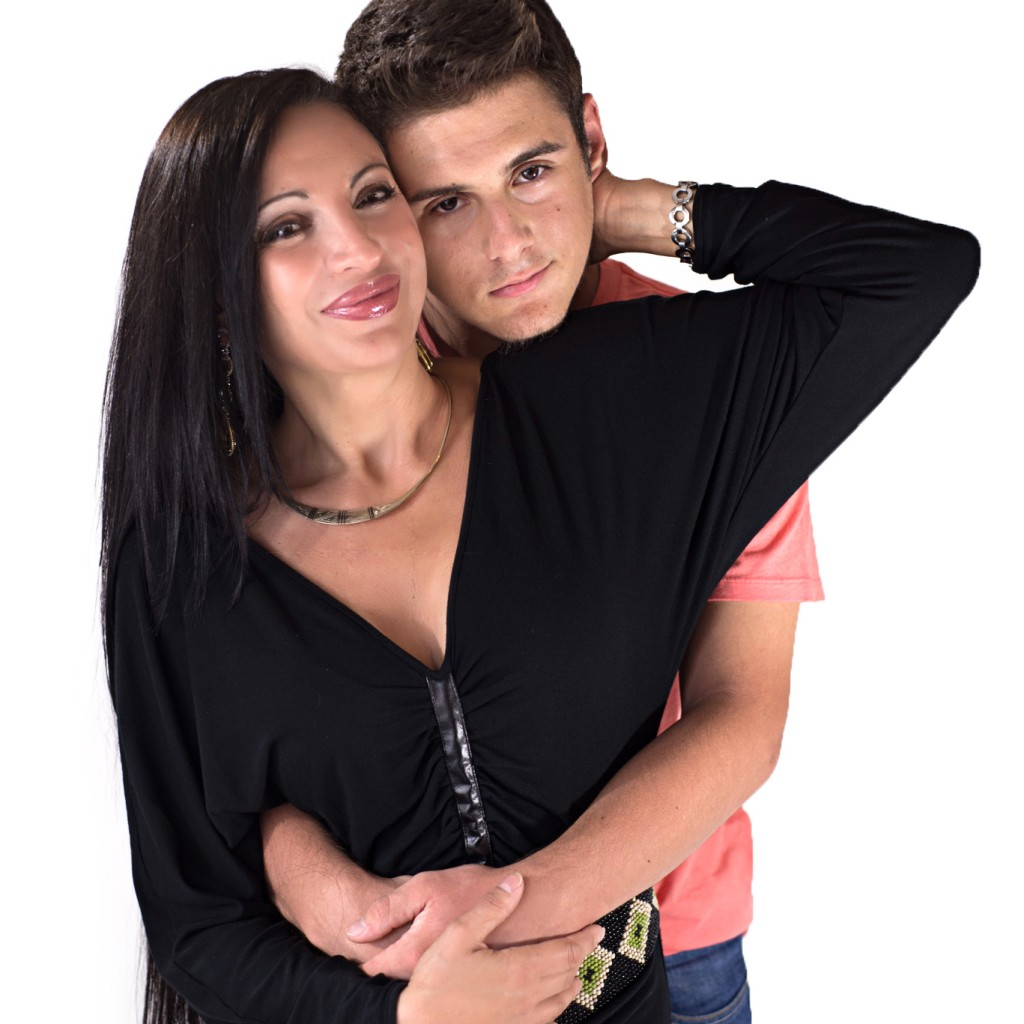 American Mother - Isabelle Benoit and her son Guillaume are wearing Bullet Blues Clothing Made in USA