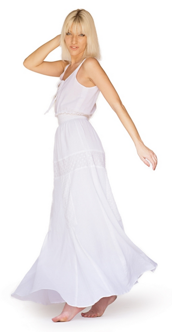 Clothilde Designer Maxi Dress by Bullet Blues - Made in USA