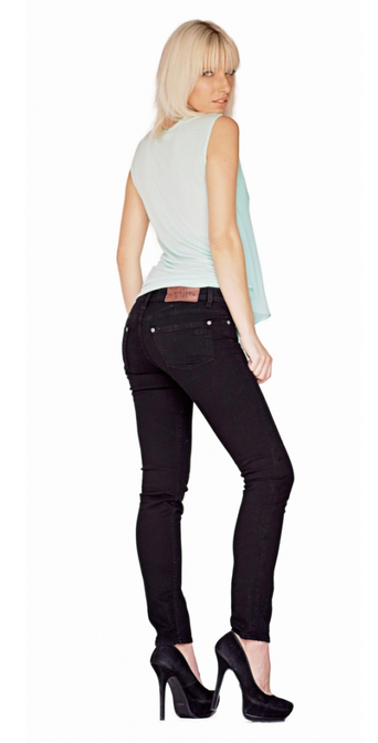 Bullet Blues Chic Parisien Black Skinny Jeans made in USA