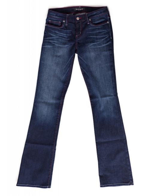 60aa3b0c83dc7 Bullet Blues Bombshell Bleu De Minuit boot cut jeans with red stitches made  in USA