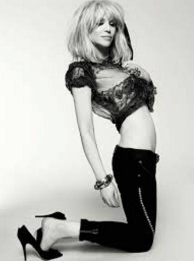 Courtney Love black jeans