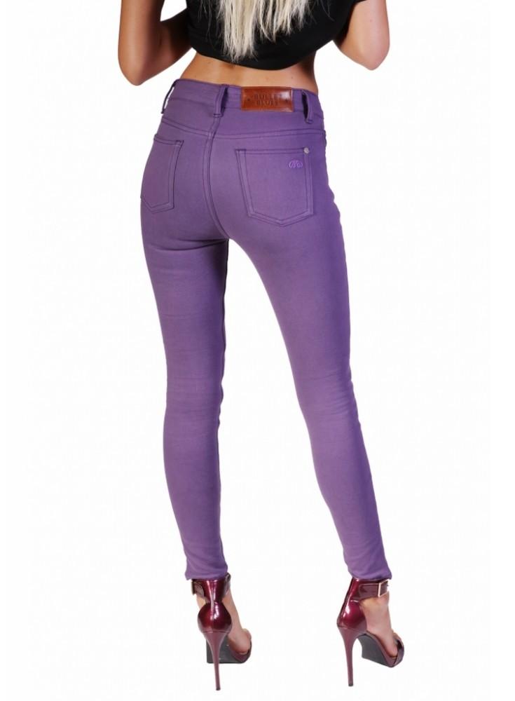 High-Waist Purple Skinny Jeans u2013 The Bullet Blues Color Pop Edit