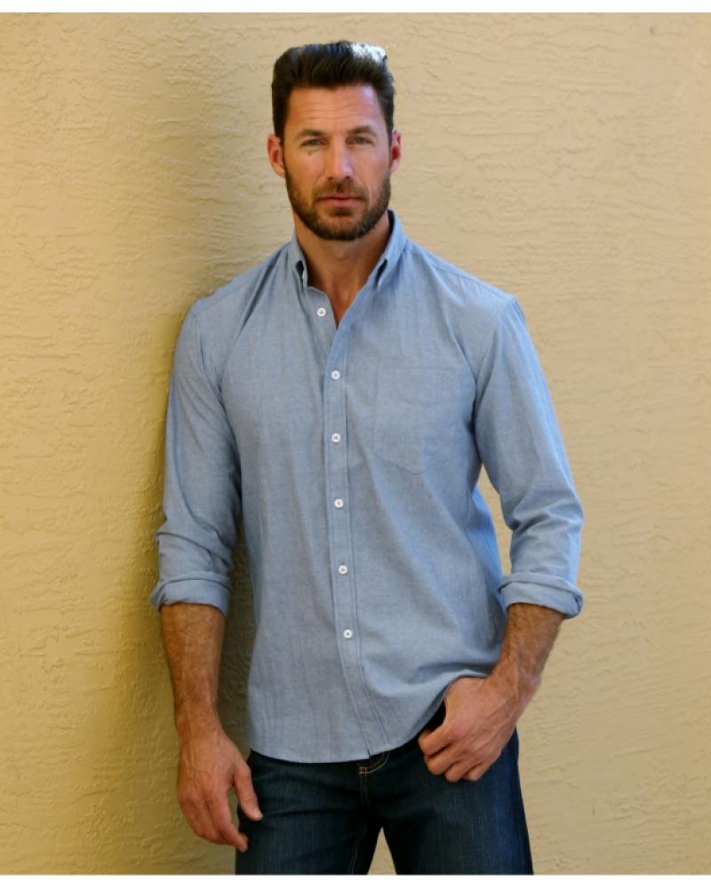 Men 39 s western denim trend by bullet blues get the scott for Jean button up shirt mens