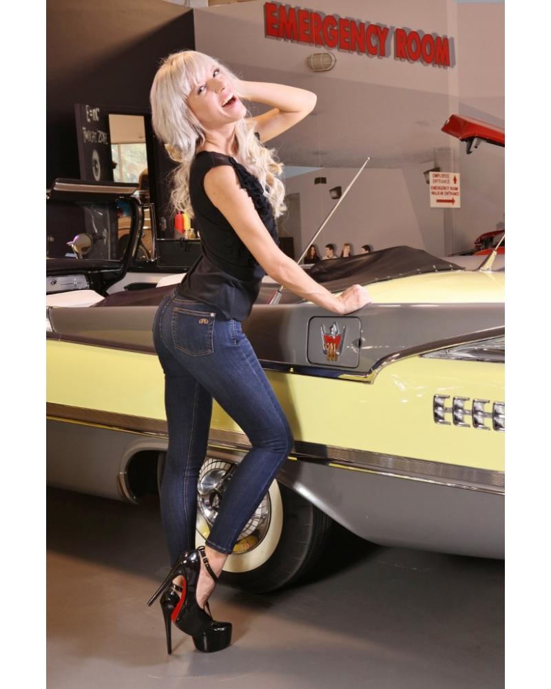 Bullet Blues Lady Slim High-Waist Medium Indigo Wash Skinny Jeans - Made in America