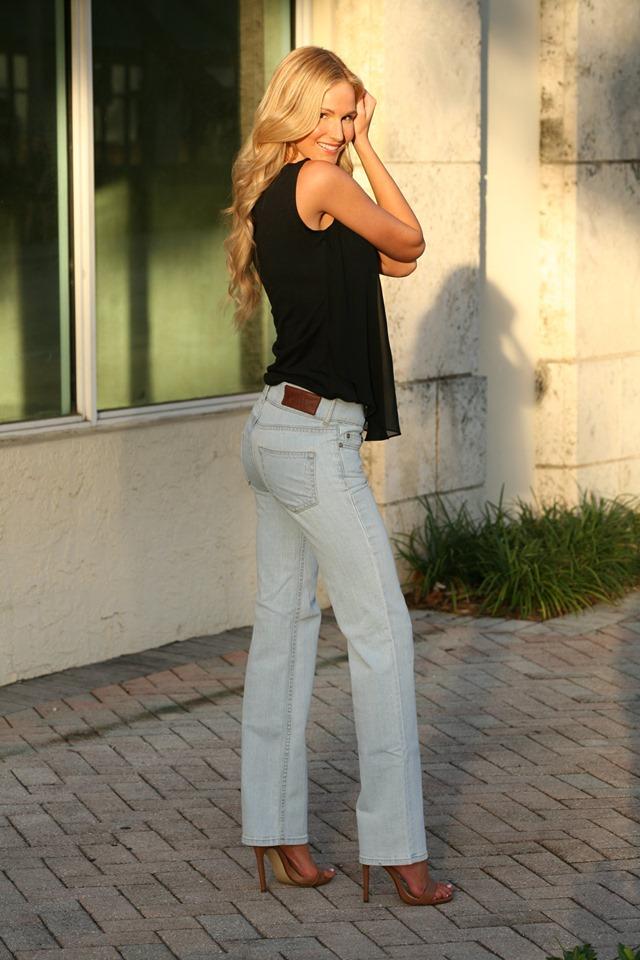 Bullet Blues Sunday Ciel High-Rise Flare-Leg Jeans - Made in USA - Lita Ford Rock Star Denim