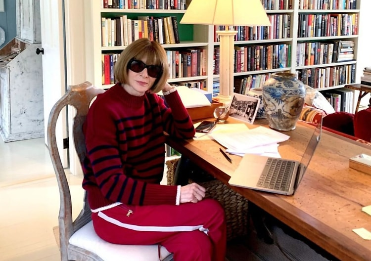 Anna Wintour does Quarantine Chic at Home
