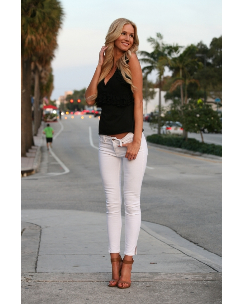 Bullet Blues Miami Chic Cropped Skinny Jeans - Made in USA - Best Budget Fashion Made in America