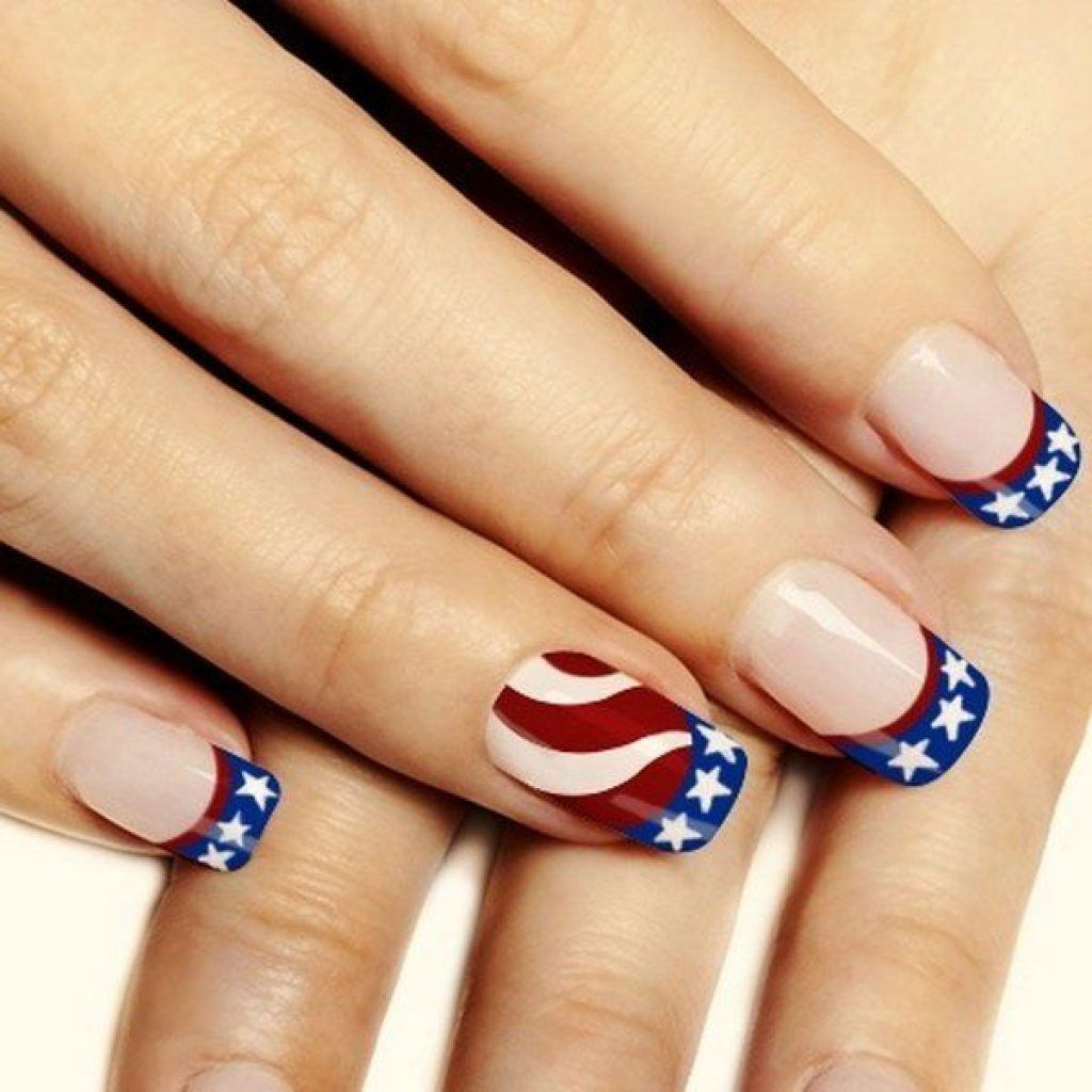 Colorful Stars and Stripes Nail Art by Fashion Diva Design - Celebrate Independence Day 2020