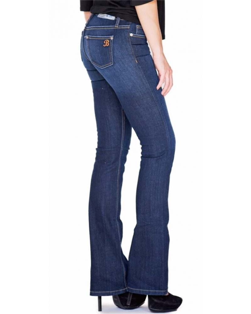 Bullet Blues Babe Nuit - Dark Wash Boot Cut Jeans - Shop American-Made Women's Jeans