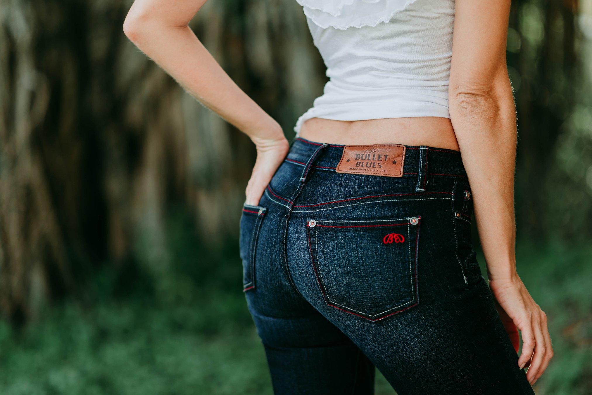 Bullet Blues 'Bombshell Bleu de Minuit' Dark Wash Boot-Cut Jeans - Made in America - Shop American-Made Women's Jeans