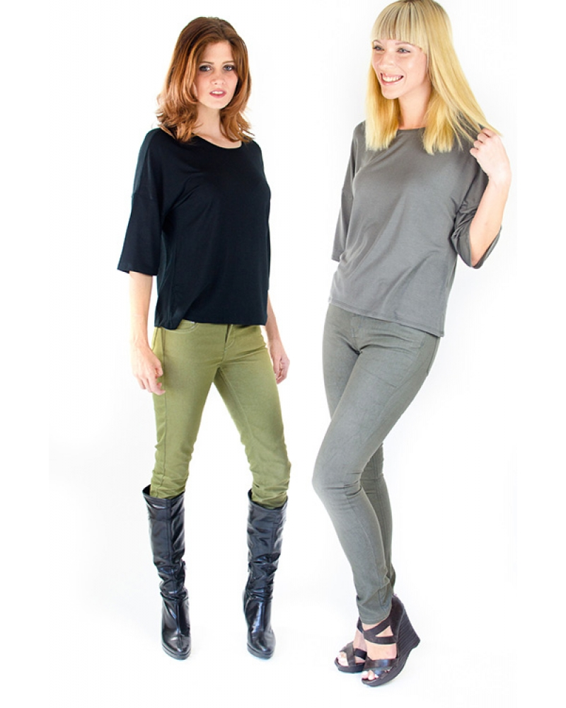 Bullet Blues Doll Vert and Doll Charbon - Green and Gray Skinny Jeans - Made in USA