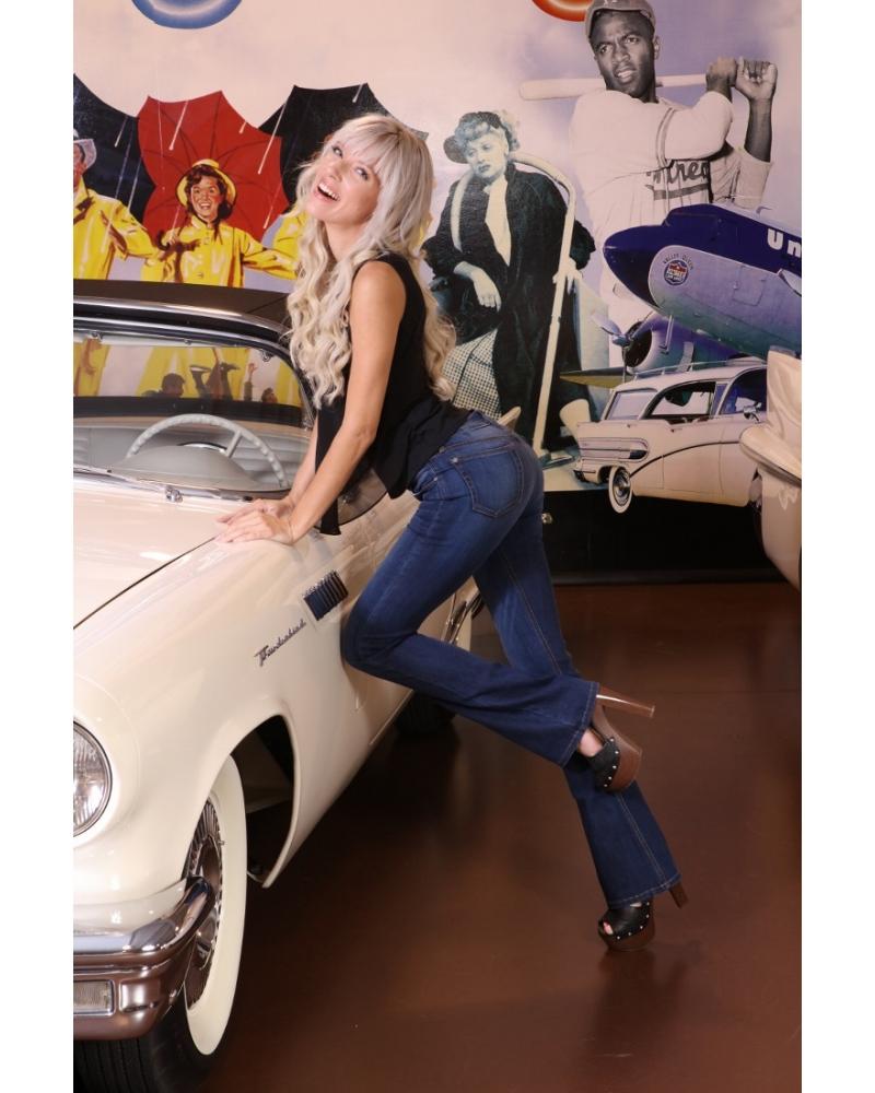 Bullet Blues Modern Femme High Waist Flare Leg Jeans - Shop American-Made Women's Jeans