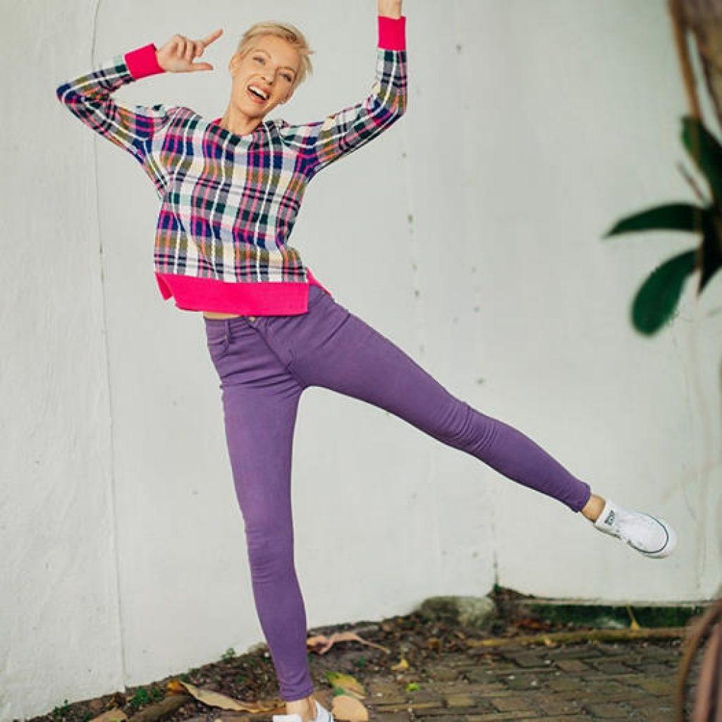 Bullet Blues Lady Slim - High-Waist Purple Skinny Jeans - Made in America