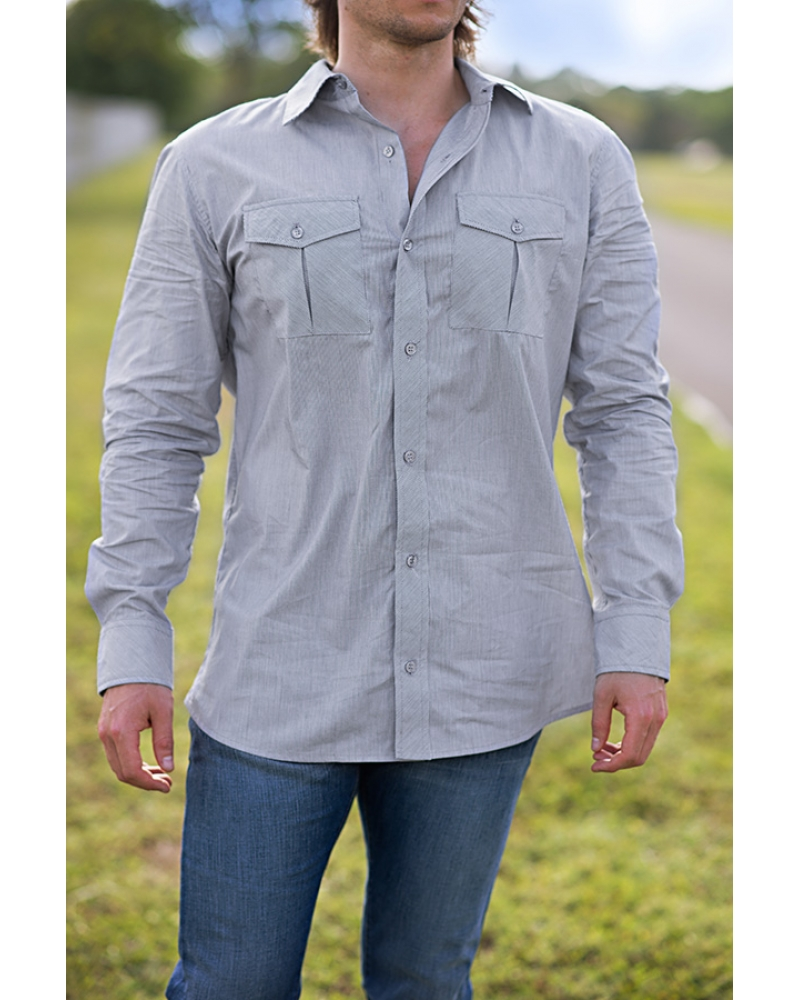 Bullet Blues 'Patton January' Button-Up Shirt - Made in USA. Bullet Blues Christmas Outfits Made in the USA