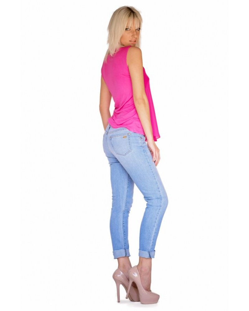 Bullet Blues Mother's Day Gifts Made in America: Jocelyne Chiffon Top and Le Copain Rêverie Boyfriend Jeans