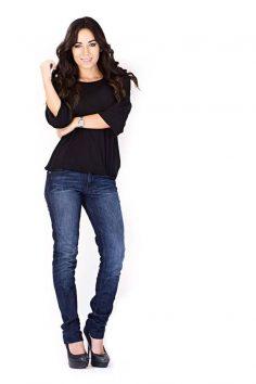 Off Duty Model Look Featuring Bullet Blues Designer Jeans