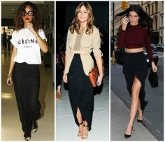Celeb Style with Bullet Blues: Black Maxi Skirt