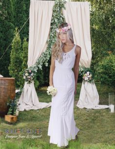 Simple, affordable wedding dresses for a simple, country wedding