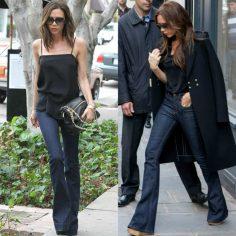 Bullet Blues Celeb Style: Victoria Beckham Rocks Women's Flared Jeans