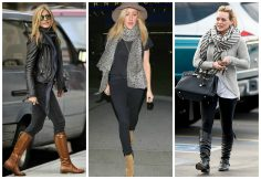 Celeb Style with Bullet Blues: American made Black Jeans+Boots+Scarf