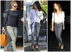 Bullet Blues Celeb Wardrobe Staple: Grey Skinny Jeans