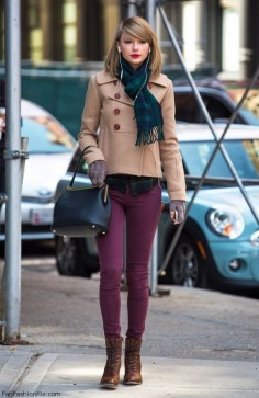 Purple Denim in Winter with Bullet Blues Eggplant Skinny Jeans Made in USA