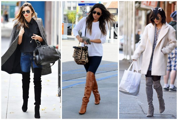 Celeb Style with Bullet Blues American Jeans and Over-the-Knee Boots