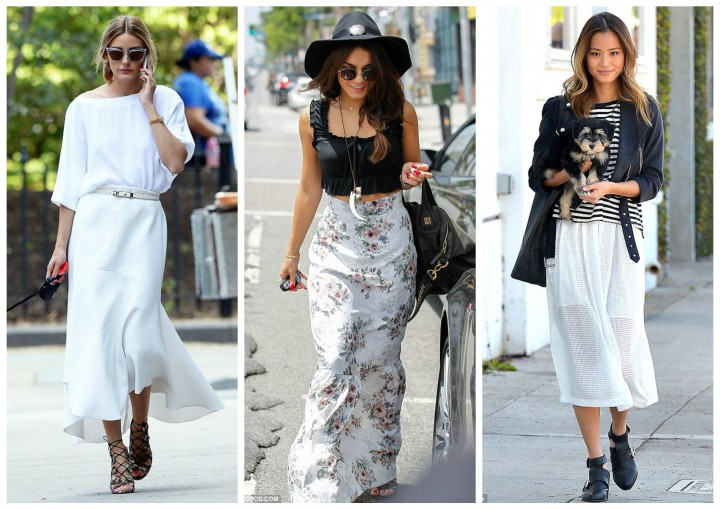 Celeb Style with Bullet Blues: American Made White Maxi Skirt