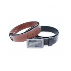 Two Bullet Blues Belts with One Buckle - Designer Apparel Made in USA