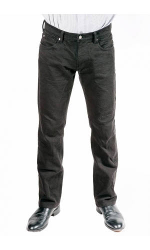 Bullet Blues Comfort Plus Relaxed Fit Straight Leg Black Designer Jeans - Made in USA