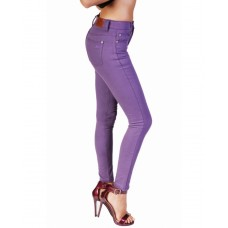 Bullet Blues Lady Slim - High-Waist Eggplant Skinny Jeans - Made in USA