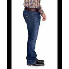 Bullet Blues Cowboy Bleu Parisien - Distressed Boot Cut Jeans Made in USA