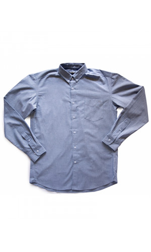 Bullet Blues Chambray Button Up Designer Shirt Made in USA