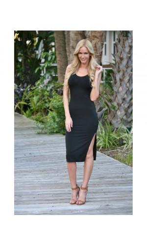 Bullet Blues Mathilde Sleeveless Little Black Dress Made in USA