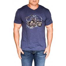 Bullet Blues SUNSHINE ON CHROME Designer T-Shirt Made in USA