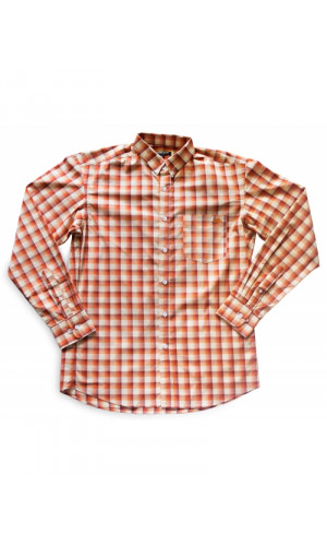 Bullet Blues Amber Flame Button-Up Shirt Made in USA